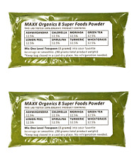 MAXX Organics 8 SUPER FOODS POWDER 60 Day Supply Compare to Organifi Green Juice