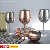 Stainless Steel Wine Glass Silver Wine Goblets Glasses Champagne Bar Party