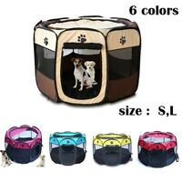 Pet Portable Play Pen Exercise Kennel Tent Dog Soft Playpen Cat Fold Crate Puppy