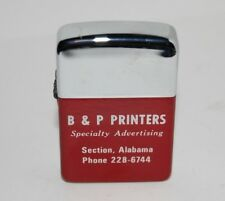 Vintage PARK Advertising Lighter - B&P Printers - Section Alabama JACKSON COUNTY