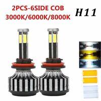 6 Sides H11 H8 H9 Car Led Headlights Conversion Bulbs Kits 120W 6000K 8000K Lamp