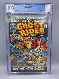 Marvel Spotlight #7 (1972) CGC 8.0 OW/W 3rd Appearance of Ghost Rider