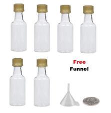 6 miniature liquor bottles Silver caps