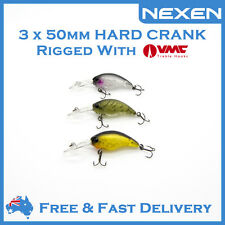 3 x NEXEN Hardbody Crank Bream Bass Lure for Saltwater Freshwater Jackall