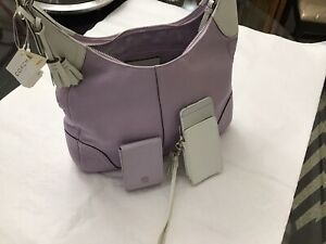COACH Lilac Pebble Lg Hobo HAMPTONS Bag,purse NWT + G.rcpt 500$ + Extra Gifts