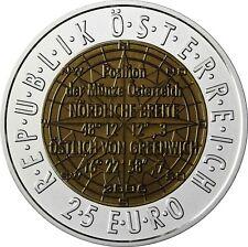 Österreich 25 Euro 2006 Satellitennavigation Niob Serie im Etui mit Zertifikat