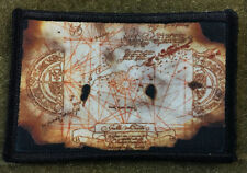 Goonies Treasure Map Morale Patch Tactical Military Army Badge Hook Flag