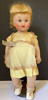 """Vintage Saran Rooted Hair Doll ~ Vinyl / Rubber doll ~ 15"""" ~ Doll & Toy Ind. NY"""