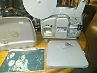 Bolex Paillard 18-5 L Super 8mm Movie Projector with Case & Manual