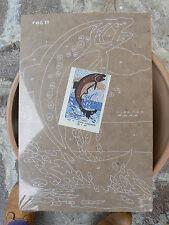 NUOVO Tavola Tavoletta legno compensato prestampata hobby mod pesce guizzante