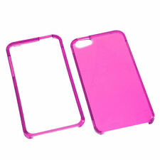 For iPhone 5 5S SE HARD Protector Case Snap On Phone Cover Clear  Hot Pink