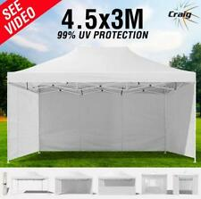 99% UV White 3x4.5m Outdoor Gazebo - Folding Marquee Tent Canopy Pop Up Party