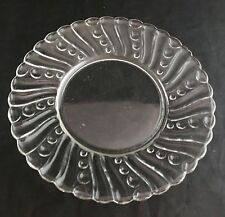 Mid Century Modern Round Horderve Snack Luncheon Serving Swirl Glass Plate Mcm