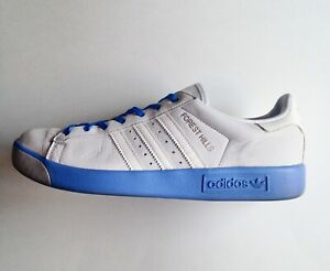 Adidas Men's US 9.5 Blue Forest Hills Man On The Moon Leather Sneakers Shoes