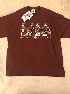 1999 San Francisco 49ers T Shirt Jerry Rice & Terrell Owens Sz XL VTG NWT