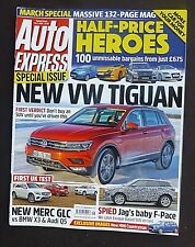 Auto Express,  March Special, 2016, VW Tiguan, Jags Baby F-Pace, Merc GLC