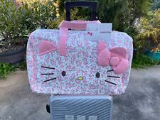 Hello Kitty Cartoon Sanrio weekend trip tote Travel Duffel Bag Luggage leather