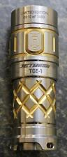 NEW JetBeam Limited Edition TCE-1 TITANIUM Flashlight w/ DEEP CNC Machined Grips