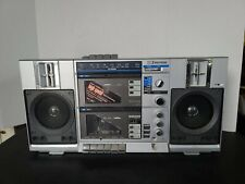 Emerson Double Cassette Boombox Radio Model CTR 949 Tested Working