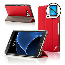 Leather Red Folding Smart Case Samsung Galaxy Tab A 7.0 Screen Prot & Stylus
