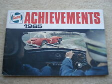 1965 CASTROL MOTOR OIL ACHIEVEMENTS 48 PAGE ADVERTISING BOOKLET