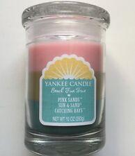 Yankee Candle BEACH FUN TRIO 10 oz TUMBLER Catching Rays Sun & Sand Pink Sands