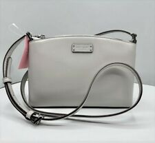 ORIGINAL KATE SPADE Crossbody Bag WKRU6041 Jean Gray Leather Top Zip
