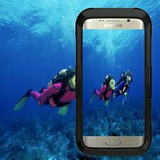 Black Waterproof Shockproof Phone Case Cover For Samsung Galaxy S6 Edge Plus