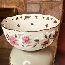 Vintage Lenox Pink Peony Barrington Collection Bowl With Sticker