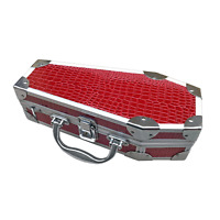 COFFIN CASES Model DL-79A Red Alligator Accessories Case