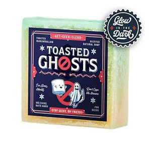 "Get Geek Clean - Ghostbusters ""Toasted Ghost"" Glow inthe Dark Natural Nerd Soap"