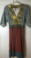 Matilda Jane Women's You And Me~Oh Liza Dress Size MEDIUM Button Detail V-Neck