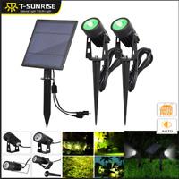 Outdoor 3 Colors LED Solar Spotlight IP65 Super Brightness Garden Lawn Lights