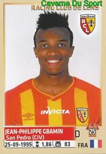 130 JEAN-PHILIPPE GBAMIN FRANCE RC.LENS STICKER FOOTBALL 2015 PANINI ~