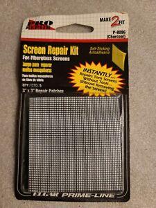 """Screen Patch Repair Kit 3"""" x 3"""" Fiberglass Screens 5 Pack #P8096 NEW"""