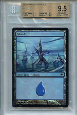 MTG  Island Land BGS 9.5 Scars of Mirrodin Foil Magic Card 5560 Amricons True Q