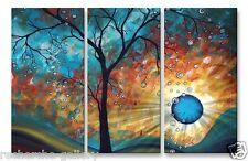 Aqua Burn Abstract Tree Landscape Metal Wall Art Sculpture Megan Duncanson