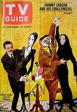 TV Guide 1965 The Addams Family John Astin Carolyn Jones #657 Halloween VTG EX