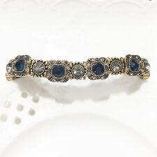 Turkish Vintage Sapphire Round Blue Tennis Stretch Bracelet Women Jewelry VB11