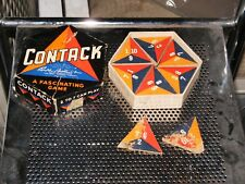 "Mid-Century 1939 Parker Bros. "" Contack "" Game Dominoes Type Game Wow !1"