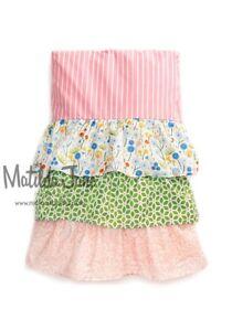 Full Matilda Jane Adventure Begins Rows Of Ruffles Bedskirt bed skirt NEW