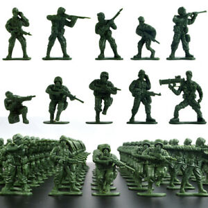 100x   Soldiers Playset Toy 5cm Army Men Figures For Sand Scene Model