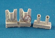 Tank Workshop 1/35 Russian T-34 Tank Hollow Exhaust Pipes and Covers WWII 355020