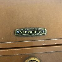 Vintage Shwayder Bros. Samsonite Hard Shell Suitcase Style 4621