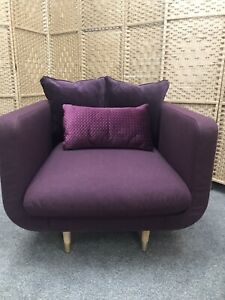 Swoon Freya Aubergine Soft Wool Armchair RRP749 - Can Deliver