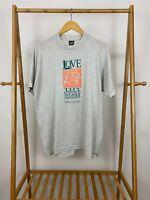 VTG 90s Love Thy Neighbor Topeka Kansas Single Stitch 50/50 Thin T-Shirt XL