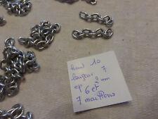 lot de 45 chainette chaine en métal gris pour création bijou  sac à main perles