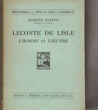 Leconte de Lisle. ESTEVE (Edmond).