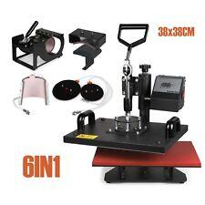 6IN1 PRESSE à Chaud Machine à transfert 38x38CM plaque Cap Multifonctionnel Swing Premier