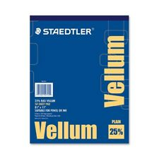 "Staedtler Vellum Paper Pad - Letter - 8.50"" X 11"" - 16 Lb - Smooth - 50 / Pad -"